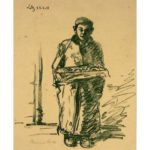 Struck lithograph - cakeseller