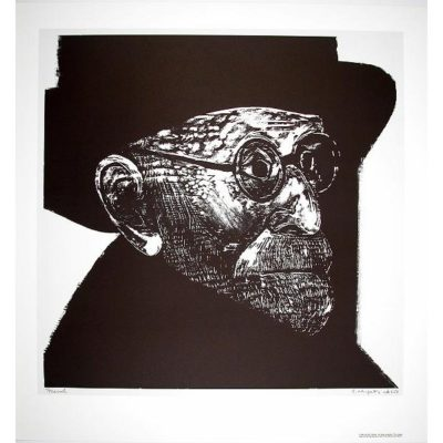 Sid Chafetz lithograph portrait of Freud