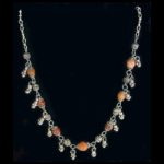 Israeli Amber & Silver Bead Necklace
