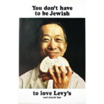 Levy's Rye Bread poster - Chinese man