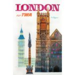TWA Travel Poster - London