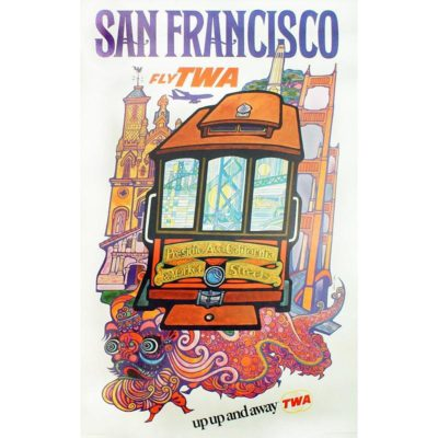 TWA San Francisco Travel Poster