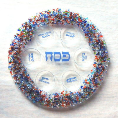 Fused Glass Passover Seder Plate