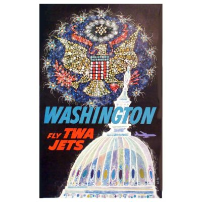 David Klein Poster design for TWA - Washington D.C.